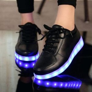 Black Patent Leather Light Up Sneakers LED